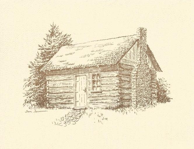 Enon Log House notecard