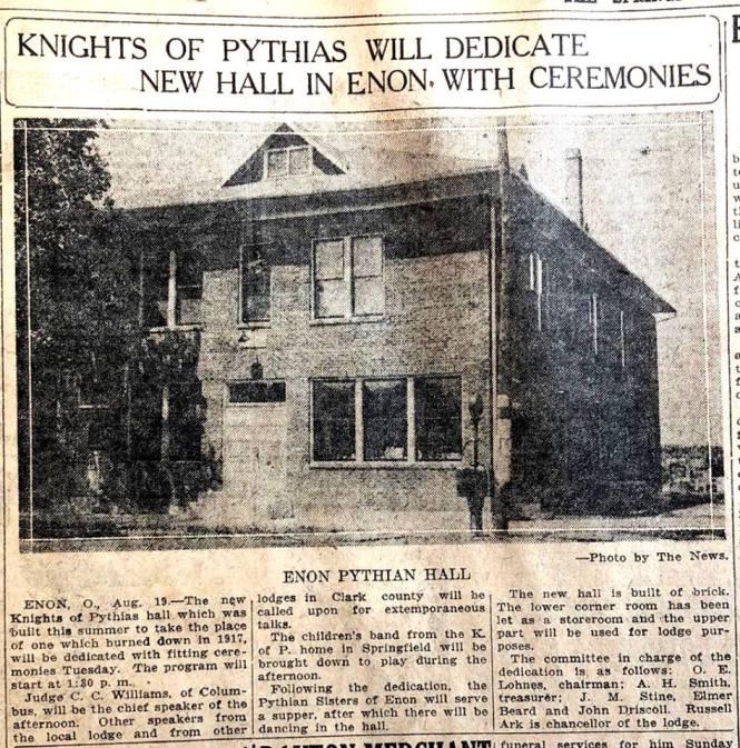 Pythian Hall Dedication