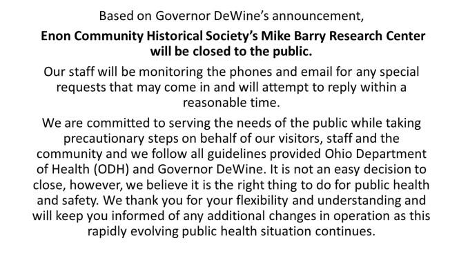 State Mandated Closing 3.2020